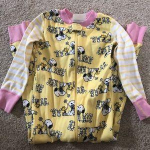 Hanna Andersson One Piece Snoopy Pajamas